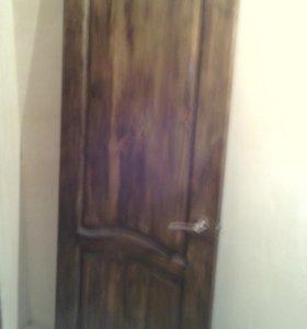 двери межкомнатные и железная, б/у