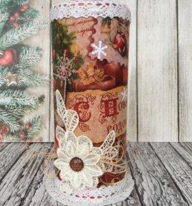 Новогодняя свеча. Подарок на Новый год