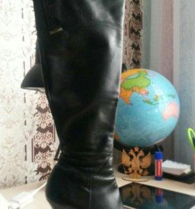 Сапоги кожаные демисезон