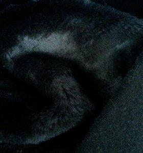 Мех черный искусственный
