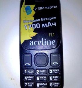 Телефон зарядка документы aceline новый.Месяц б/у