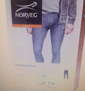 Термобелье мужские кальсоны NORVEG новые 50-52