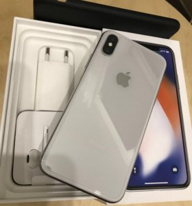 iPhone X, Silver, 64GB