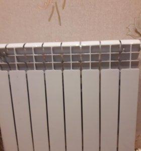 чугунный радиатор ( 2 шт. по 8 ребер), фирма Кенне
