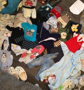 2 пакета одежды для мальчика от 9-до 1,6