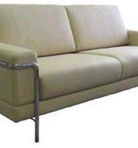 Диван офисный трёхместный + кресло