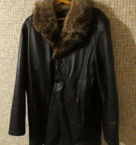 Куртка зимняя кожаная 52р