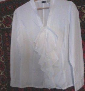Новая белая х\б блузка-Бонприкс!!!