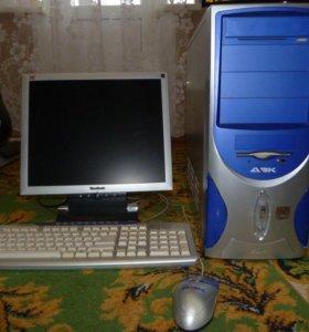 Системный блок ДВК и ЖК монитор ViewSonic