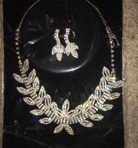 Украшение серьги ожерелье