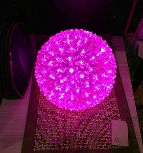 Декоративный светильник шар орхидея