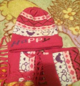 Шапка и шарф детская