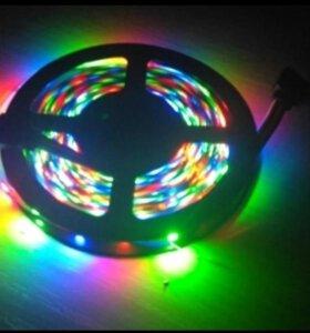 Светодиодная лента 2835 DC12V RGB