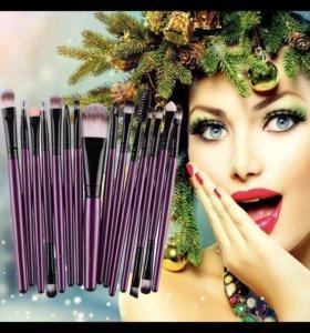 Кисти для макияжа (15 шт)