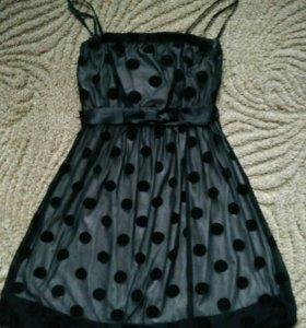 Платье черное, гипюровое !