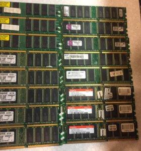 Оперативная память ddr1 1gb 16шт