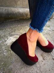 Туфли женские нат замша