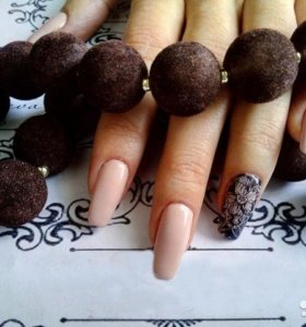 Маникюр, покрытие натуральных ногтей гель лаком