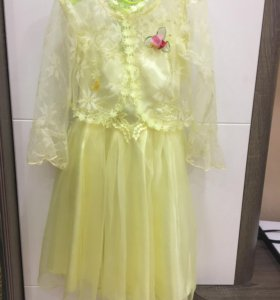 Платье праздничное с гипюровой накидкой