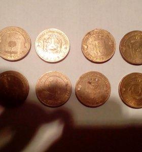 Продам юбилейные монеты 10р.