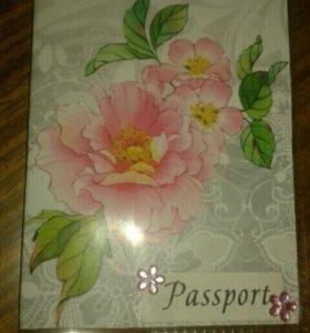 Обложка на паспорт,ручная работа