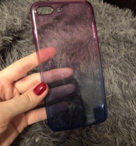 Силиконовый чехол iPhone 7+ и 8+