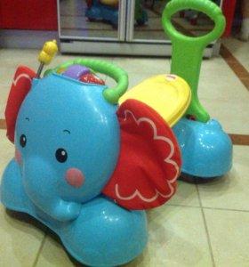 Слон каталка-ходунок Fisher Price