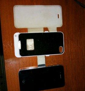iPhone 4 16гб + powerbank