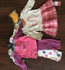 2 пижамы, платье ,ромпер mothercare новые