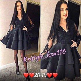 Новые платья. Чёрный и голубой