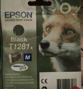 Картридж для принтера Epson, чёрный.