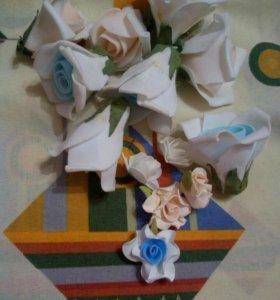 Цветы из фоамина