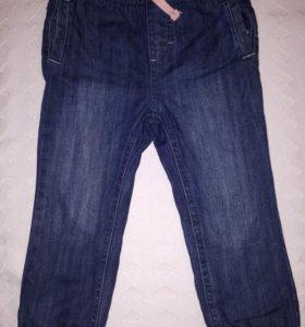 Утепленные джинсовые брючки на девочку