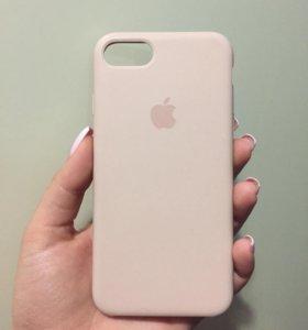 Оригинальный чехол на iPhone 7/8 цвет пудра