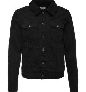 Куртка джинсовая с мехом Topman