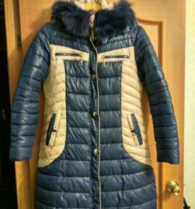 Пуховик -пальто зимний