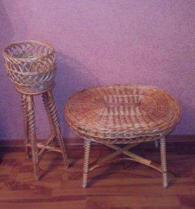 Плетеная мебель, ручная работа