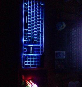 Клавиатура + мышка + небольшой коврик