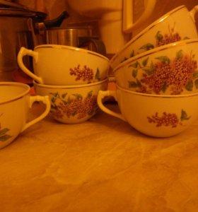 """Чайный набор """"Сирень"""" Дулёво ."""