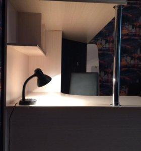 Кровать с рабочем местом и шкафом