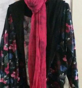 кардиган с шарфом