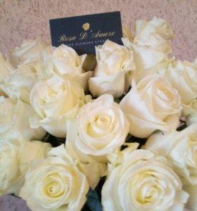 """Букет из 51 розы """"polar star"""" Эквадор с доставкой"""