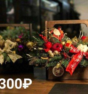 Коробочки ящики для флористов