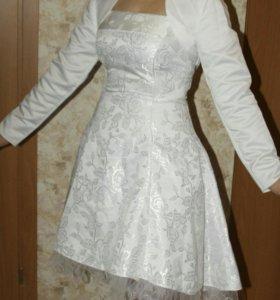 Свадебное платье короткое+фата в подарок