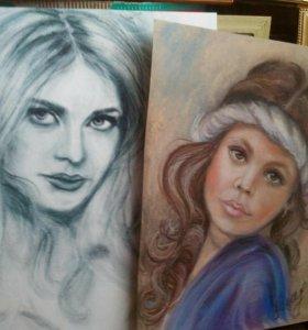 Портреты по фото, картины маслом, пастельюи т.д.