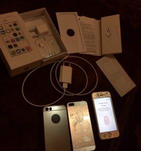 Продам IPhone 5s, gold, 32gb в идеальном состоянии