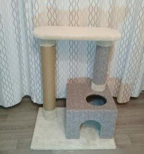 НОВЫЙ Домик для кошки с когтеточкой
