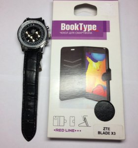 Чехол для смартфона ZTE BLADE X3 + Часы
