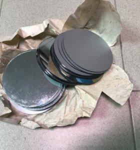 25 круглых зеркал диаметром 11,5 см, толщина 2 мм