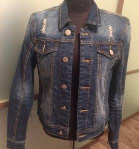 Джинсовый пиджак новый Кира Пластинина